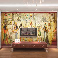 大型壁画 ktv包房酒店客厅沙发背景专用墙纸壁纸欧式古典埃及人物