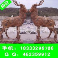 园林石雕动物供应广场景观雕塑 城市主题雕塑 小鹿石雕鹿雕塑