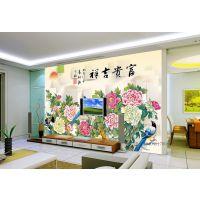 玉石,大理石,国画,3D彩雕瓷砖背景墙 ,高精度喷墨UV平板打印机