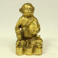 开光纯铜猴子摆件铜猴摆设金属工艺品风水家居饰品十二生肖批发