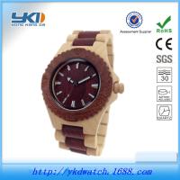厂家批发供应欧美热销时尚环保男士檀木手表 加工定制木表爆款