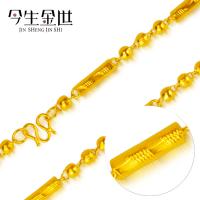 女士6毫米圆柱佛珠项链 男士霸气新款土豪金项链 越南金供货