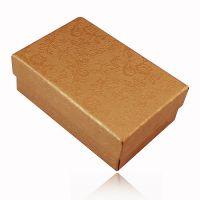 【特价】黄色牡丹花纹饰品店包装礼品盒子项链盒戒指盒耳环盒6063