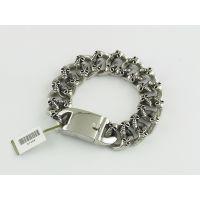 钛钢仿古手链生产 不锈钢水晶手镯设计加工定做 韩国首饰批发