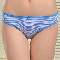 stock 厂家直销条纹全棉女士内裤 舒适提臀女式内裤 现货女士三角裤批发
