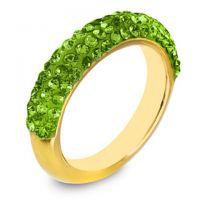 镀金铜戒指 半圈镶钻 女款戒指