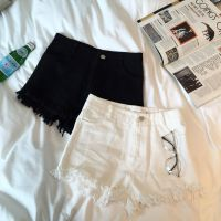 蝇蝇 2015夏季新款 欧美港风休闲街头时髦磨破边简约牛仔短裤女