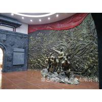 泥塑人物动物 浮雕壁画 水泥雕塑