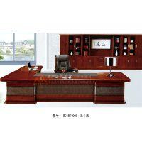 实木大班台主管桌现代时尚办公桌BG-BT-001华艺顺鑫