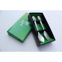 名瑞不锈钢餐具套装 卡通笑脸叉勺2件套 生日小礼物 实用促销礼品 酒店餐厅赠品