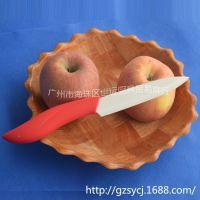 阳江刀具群运牌陶瓷刀 5寸陶瓷刀 彩色手柄防滑陶瓷刀 厨用套装