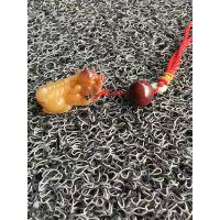 新品天然桂林鸡血玉貔貅吊坠玉石挂件挂坠招财男款