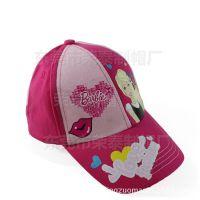 夏季儿童帽女童女孩帽子卡通芭比棒球帽儿童鸭舌帽夏天遮阳防晒帽