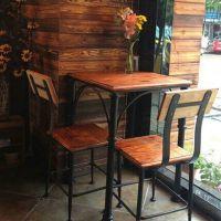 欧式圆形实木运达来餐椅 户外休闲咖啡厅奶茶店餐桌椅组合
