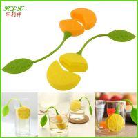 可爱清新水果柠檬镂空硅胶泡茶器过滤器创意滤茶器茶匙