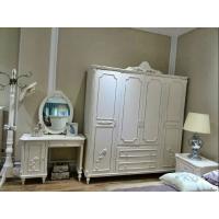 实木四门大衣柜 高档欧式衣橱 卧室家具白色衣柜