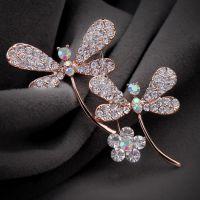 厂家直销 奥地利水晶 胸针蜻蜓丝巾扣可爱胸花 韩版 大号4991