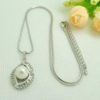 DH57-W韩版出口饰品 韩版奢华珍珠锆石项链 个性创意仿真项链批发