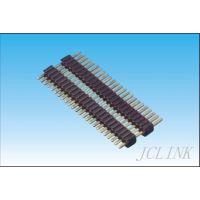 供应间距1.0/1.27/2.0/2.54mm单排针,单排双塑排针,180度排针