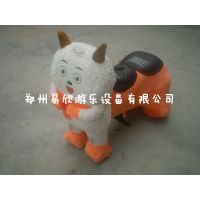 易欣卡通毛绒电瓶玩具车 可定做孩子***喜爱儿童毛绒玩具车