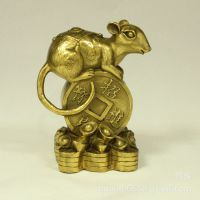 开光纯铜老鼠摆件摆设风水家居饰品十二生肖工艺品金属生产批发