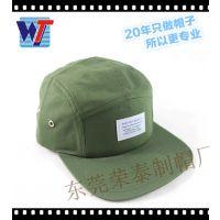 东莞市帽子工厂平顶帽订做 时尚平檐鸭舌帽 军绿色休闲帽子
