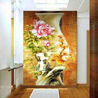 千彩墙布 无缝墙纸墙布壁画 玄关背景墙 平安富贵 厂家个性定制一件代发