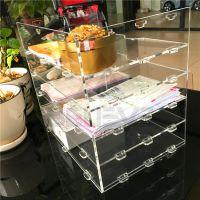 believe新品促销五层书架桌面文件整理架资料架亚克力有机玻璃书架陈列架