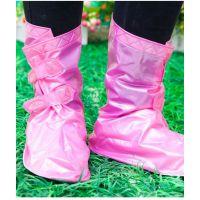 批发粉色可调节防雨鞋套 便携式鞋套 防泥泞防滑防雨鞋套