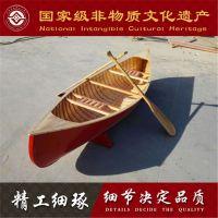 北京天津上海哪有木船厂家出售欧式手划船风格装饰小型独木舟 出口意大利客船