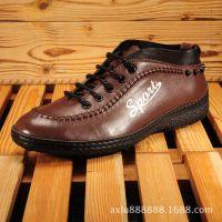厂家批发直销英伦时尚单鞋广州鞋休闲系带皮鞋头层真皮男鞋男士鞋