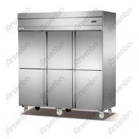 雅绅宝厨房冷藏冷冻柜 六门立式保鲜柜 不锈钢冷冻厨房柜