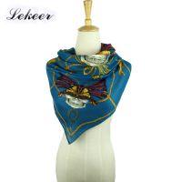 厂家批发2015外贸 欧美风骷髅图案纯棉手感巴厘纱围巾