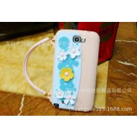 供应iphone5硅胶手提包小碎花硅胶保护套/苹果5代手机外壳
