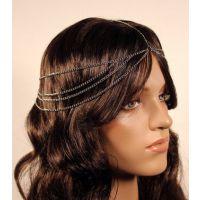 欧美风饰品 流苏链条 多层发带 百搭简约金属发箍发带CZ909562