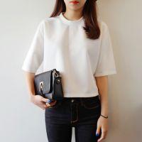 2015韩国东大门夏季新款短款短袖T恤微信货源女装免费一件代发