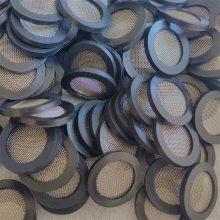 YF0420水表过滤网片DN25橡胶包边过滤网垫片304不锈钢滤网