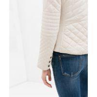 2014秋季新款 欧美风绗缝修身棉衣拉链短外套夹克女0518/258
