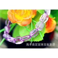 紫水晶手链天然紫水晶 乌拉圭紫水晶批发 紫水晶DIY紫水晶批发价