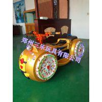 广场游乐太子摩托车双人规格哦 儿童新款游乐设备
