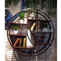 美式复古创意书架铁艺家具壁挂置物架 墙上置物架 收纳架 展示架