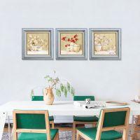 广州供应水晶珠高档框画/油画布花卉客厅书房餐厅挂画