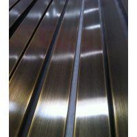 拉丝黑钛304管,非标不锈钢彩色管,拉丝不锈钢方管(真空电镀)