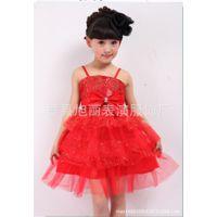 新款六一儿童演出服女童纱裙花童礼服合唱服主持人舞蹈表演连衣裙