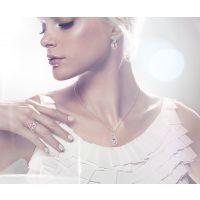工厂 欧美精品 圆形粉色水晶饰品套装 微镶 女士