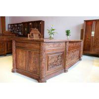 红木办公家具刺猬紫檀酸枝实木花梨木鸡翅木办公台办公桌椅