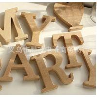 厂家直销木质英文字母数字摆件批发 木制工艺品 diy创意装饰