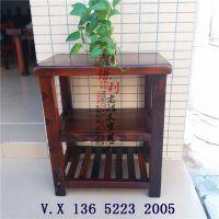 老船木小柜子矮柜茶水柜客厅实木柜子储物柜收纳柜茶叶柜船木家具