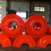 福建防碰撞直径1.1米警戒塑料浮筒 君益抽沙浮筒厂家报价