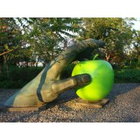 水果雕塑 不锈钢景观雕塑 不锈钢彩绘雕塑